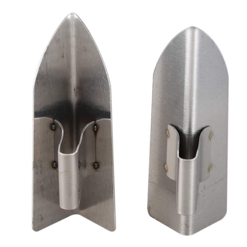 New 1 Pair Of Stainless Steel Right Angle Repair Scraping Knife Decorative Trowel Plaster Tools Corner For Bricklayer