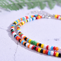 Seed Beads Love Necklace Sets for Women Choker Multilayer with Name Fashion Pearl Boho Vintage Streetwear Collier Femme 5