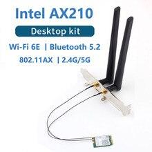 3000mbps intel ax210 ax200 wi-fi 6e m.2 desktop kit 2.4g/5g/6g bluetooth 5.2 802.11ax/ac ax210ngw adaptador de cartão sem fio antena