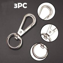 Brelok do kluczy z obręczą karabińczyk metalowy brelok do kluczy brelok do kluczy z obręczą brelok do kluczy do lokalizator kluczy 3 szt Breloki do kluczy do biżuterii akcesoria do majsterkowania tanie tanio CN (pochodzenie) Kieszeń Multi Tools