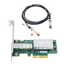 10g single-port 10 gigabit mellanox mcx311a ConnectX-3 sfp + placa de rede de fibra óptica 10 gigabit fibra