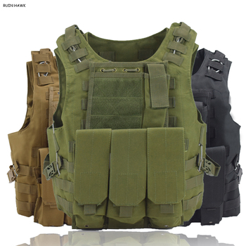 Military Gear Army Paintball Combat Protective Vest Outdoor Camouflage Tactical Vest For Hunting Airsoft CS Wargame Body Armor protective vest for cs wargame 4 colors tactical vest military equipment airsoft hunting vest training paintball airsoft combat