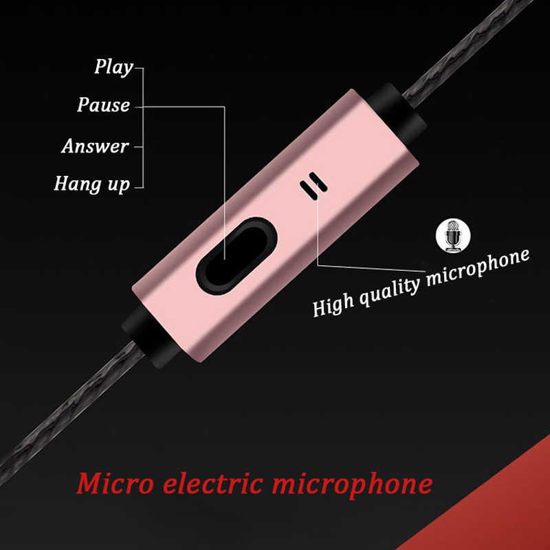 有線イヤホン 3.5 ミリメートルヘッドセット 4D ステレオサウンド 5 色用マイク電話コンピュータポータブルヘッドホンボックス有線イヤフォン