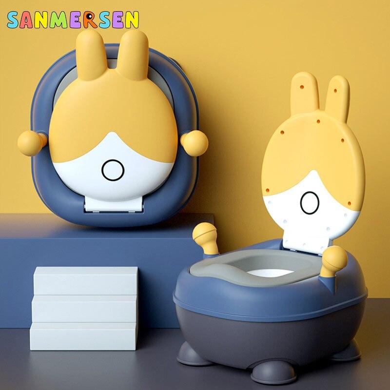 Cartoon Rabbit Portable Baby Pot Toilet Seat Pot For Kids Potty Training Seat Children's Potty Boy Girl Potty Toilet
