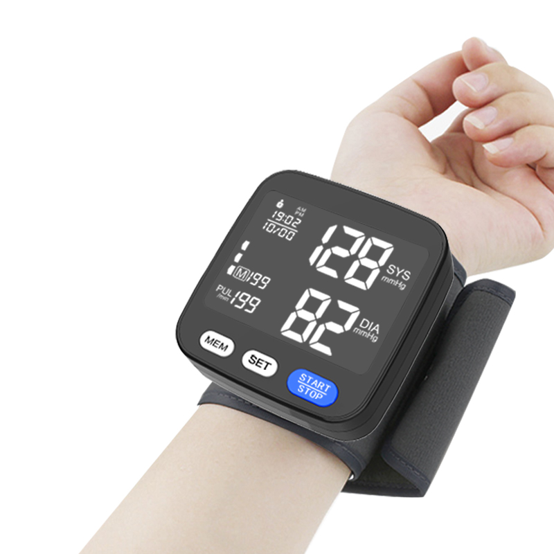 2021New Home Low Price A Blood Pressure Monitor Wrist Factory Electronic Wireless Medical Sphygmomanometer BP Machine Automatic