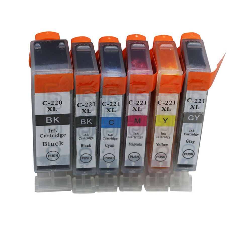 Printer <font><b>Ink</b></font> <font><b>Cartridges</b></font> pgi 220xl cli 221xl Compatible For <font><b>Canon</b></font> Pixma <font><b>Ink</b></font> MP560 MP620 MP620B <font><b>MP630</b></font> MP640 Cartouche Impressora image