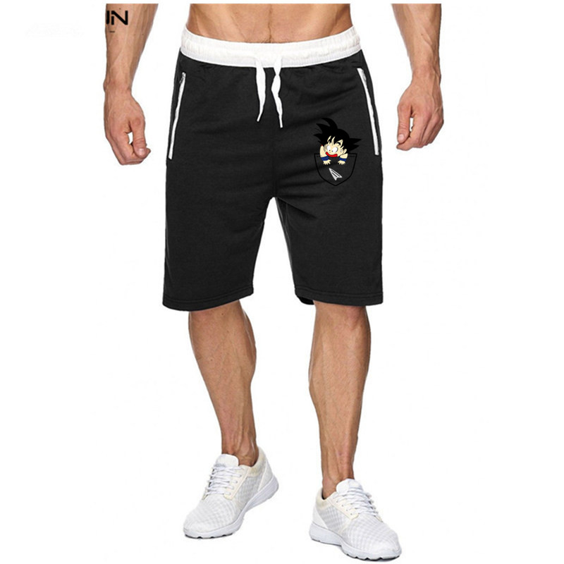 New Dragon Ball  Goku 3D Shorts New Men Fitness Bodybuilding Shorts Man Summer Workout Male Breathable  Quick Dry Sportswear