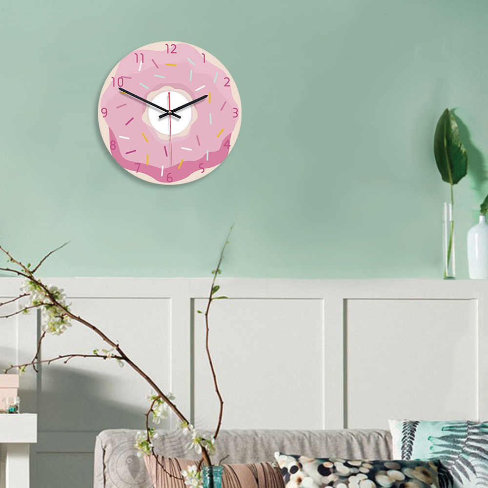 M. Reloj de Pared brillante acrílico 11 pulgadas Rosa chica creativa cocina colorido Reloj de Pared Reloj Pared dormitorio decorativo