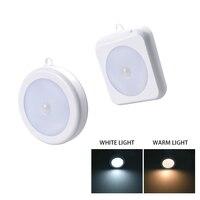 Sensor de movimiento cuadrado COB, luz LED nocturna inalámbrica, electromagnética, para armario, dormitorio, Control táctil
