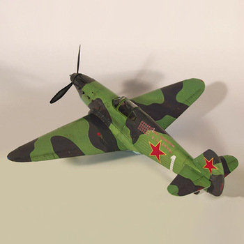 1:35 Soviet Yak-1 Fighter DIY 3D Paper Card Model Building Sets Construction Toys Educational Toys Military Model image