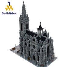 Mundialmente famosa arquitetura medieval retro catedral edifício de montagem blockskit diy tijolos educação presentes natal