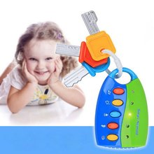 Baby Musical Car Lock Key Toys Smart Remote Voices Pretend Play Flashing Electronic Toy Early Educational for Children