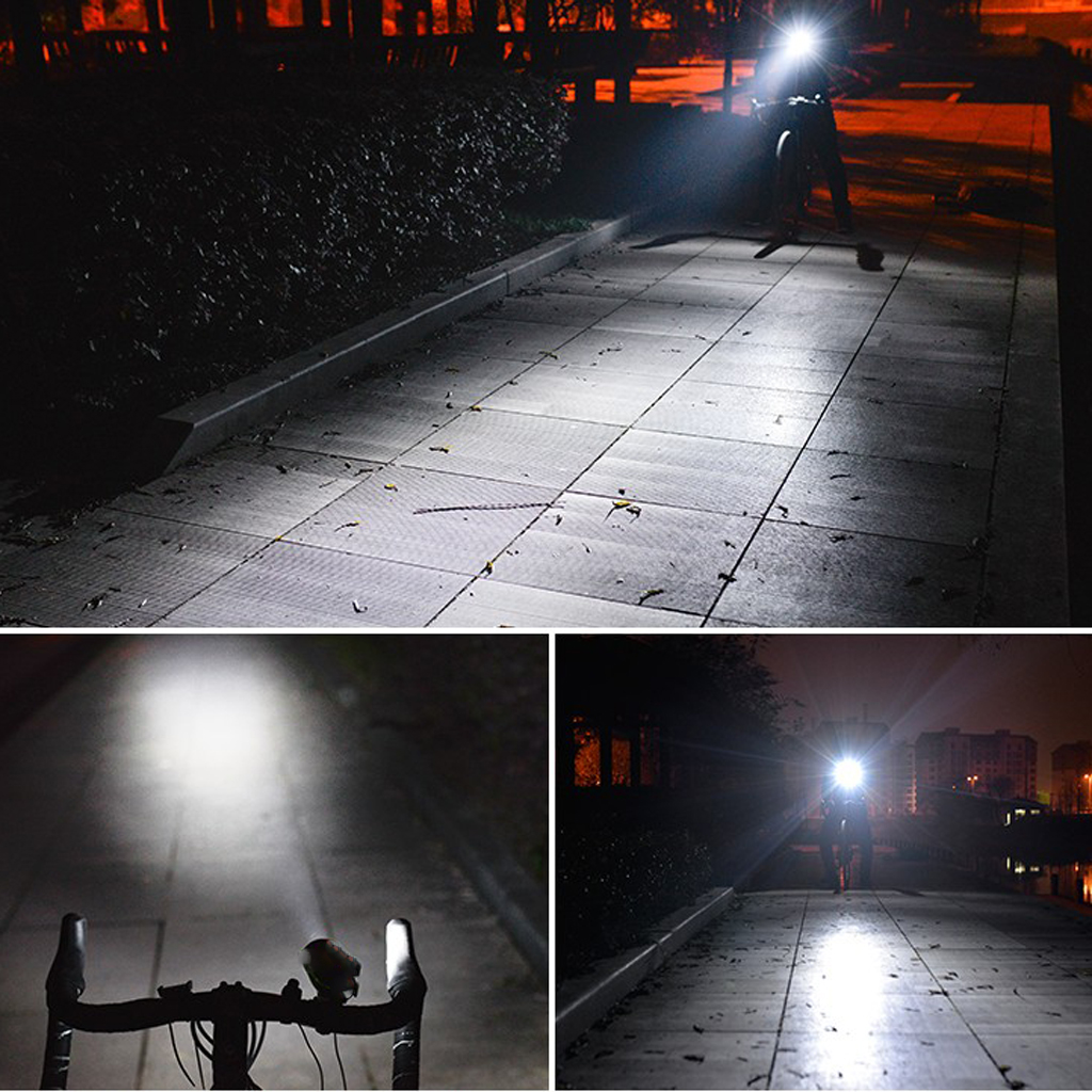 2 in 1 Bicycle Front Light & Horns Battery Powered LED Bicycle Headlight Bike Handlebar Light Head Light Bicycle Front Lamp