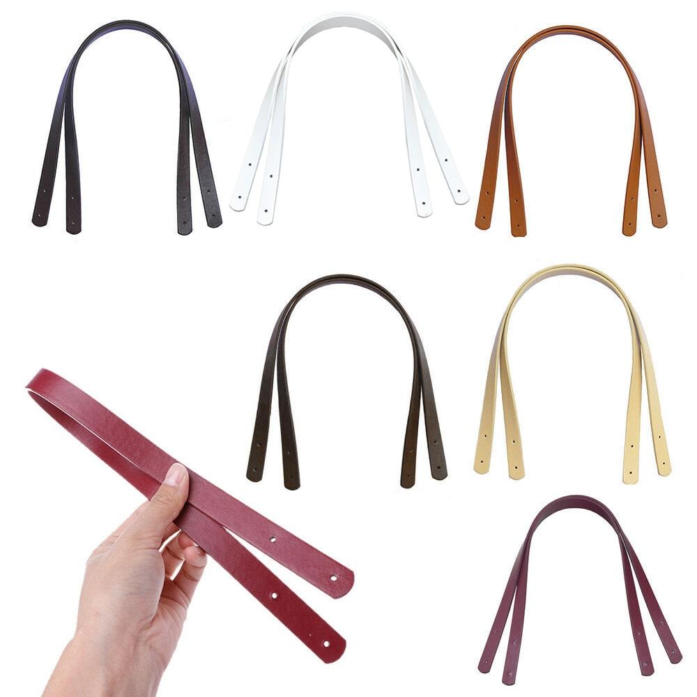 2pcs/Lot 60cm Leather Bag Strap Handle Shoulder Bag Belt Band For Handbag DIY Bag Strap Accessories