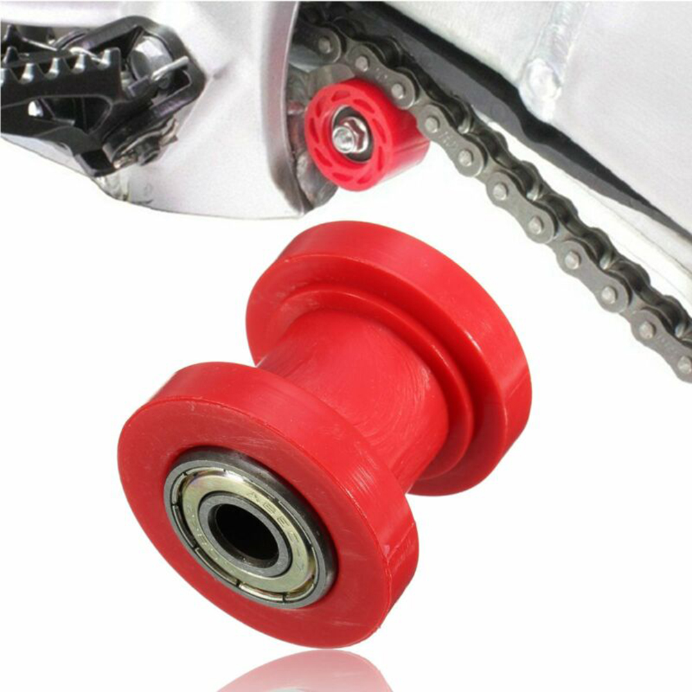 Red 8mm Chain Roller Slider Tensioner Pulley Wheel Guide For Pit Dirt Bike ATV New And High Quality