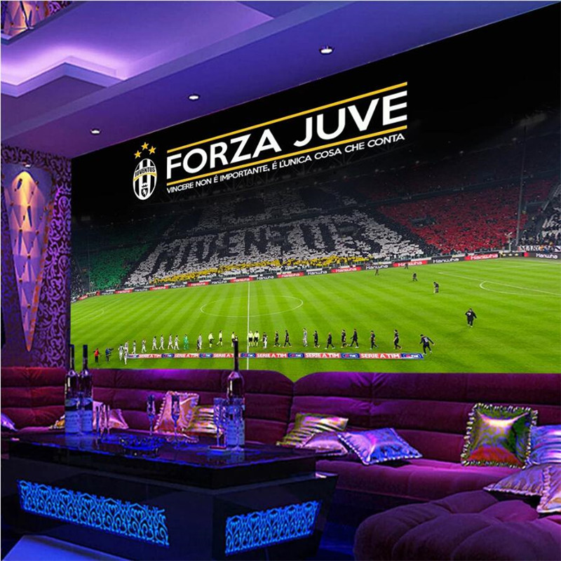 Custom 3D Photo Wallpaper Serie A Football Juventus Home Mural Bar Football Club KTV Industrial Decor Background Wall Paper 3D
