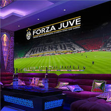 Papier peint Photo 3D personnalisé de la série A Football | Murale de la Juventus, décoration industrielle KTV du Club de Football et Bar, papier peint de fond pour la maison, 3D(China)