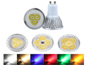 10pcs lighting GU10 E27 G5.3 LED Spotlight Dimmable Lamp 3W 4W 5W 110V 220V Red green blue Lampada LED Bulbs light Spot Candle