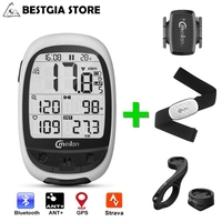 2.3 Inch GPS Bike Computer Bluetooth 4.0 ANT+ Cycling Computer With Chest Heart Rate Power Meter Cadence Sensor Bicycle Odometer