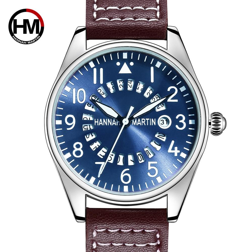 Hannah Martin Chronograph Quartz Men Watch Luxury Brand Casual Wrist Watches Couple Watch  Watch Men  Watch  I Love You Watch