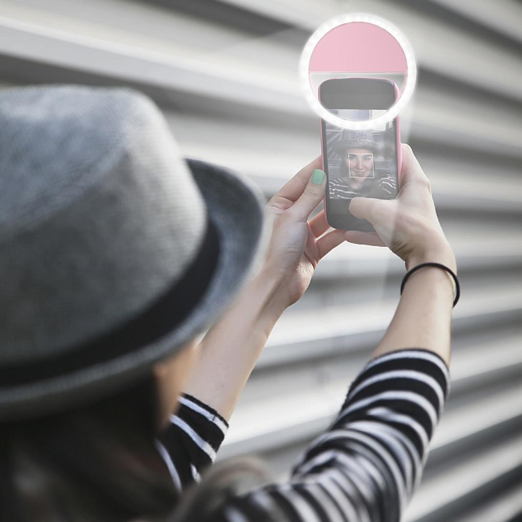 Rechargeable Mobile Mini Selfie Ring Light  - Cellphone Ring Light