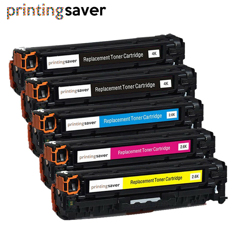 5x Compatible <font><b>305A</b></font> toner cartridge for <font><b>HP</b></font> CE410A CE411A CE412A CE413A LaserJet Pro 300 color MFP M375nw/M475dn/400/M451nw/M471dn image
