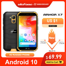 Ulefone Armor X7 5.0-Inch Android10 Kasar Tahan Air Smartphone Ponsel 2GB 16GB IP68 Quad-Core NFC 4G LTE Mobile Phone(China)