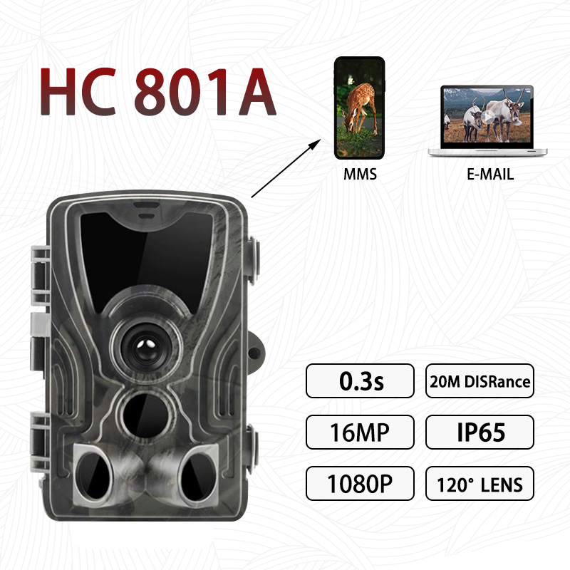 HC-800A <font><b>Hunting</b></font> <font><b>Trail</b></font> <font><b>Camera</b></font> Night Vision 12MP HD 1080P IP65 Waterproof Outdoor 0.5s Trigger Wildlife Traps Animal <font><b>Camera</b></font> image