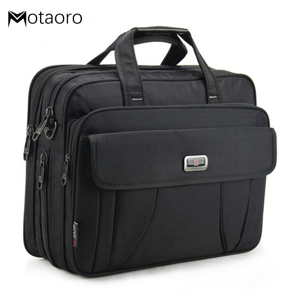 Large Men's Briefcase Business Shoulder Bags Women 15.6
