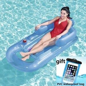 Image 1 - Надувной плавающий ряд 157x89 см, пляжный надувной матрас для плавания, бассейн, поплавки, гостиная, спальная кровать для водных видов спорта, вечерние