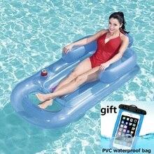 Nadmuchiwany materac pływający 157x89cm plaża pływanie materac dmuchany pływający w basenie pływające łóżko Lounge dla sportów wodnych Party