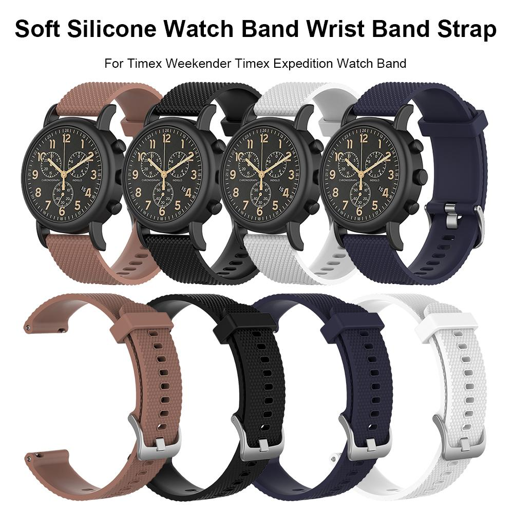 New Hot Sale Soft Silicone Watch Band Wrist Band Strap For Timex Weekender Timex Expedition Watch Band