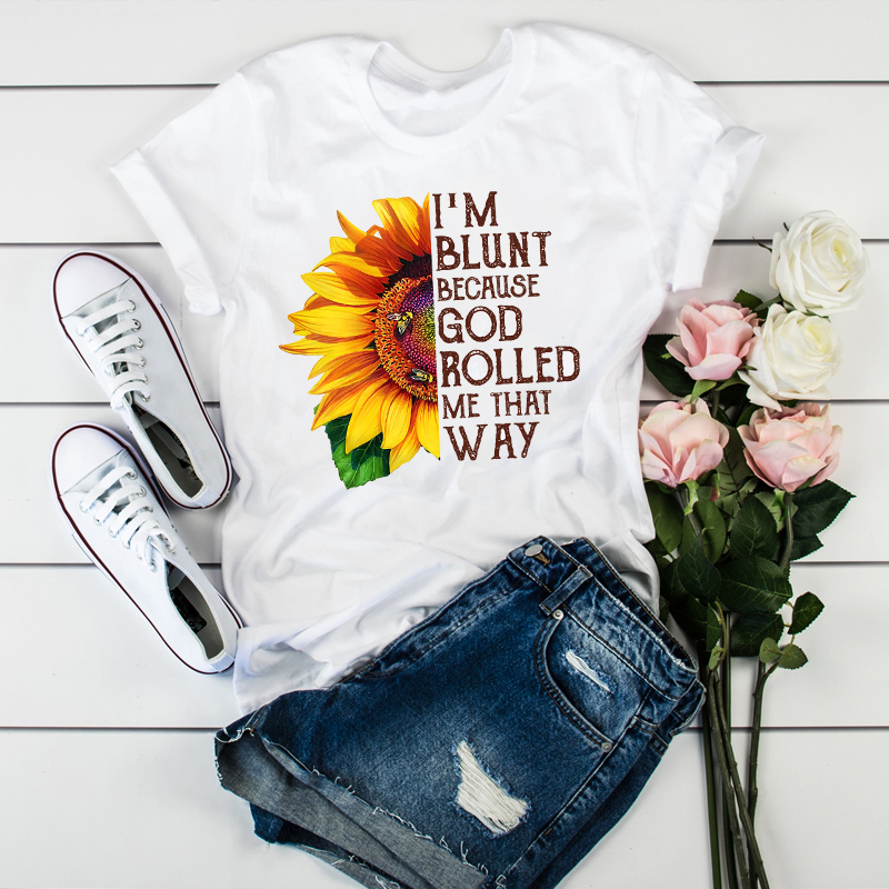 Women Clothing Sunflower Bee Flower Floral Clothes Ladies Womens Tops  Clothes Graphic Female T-Shirt Tumblr T Shirt T-shirts