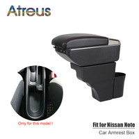 For Nisan Note 2016 2017 2018 2019 armrest box USB Charging interface heighten central Store content box cup holder ashtray