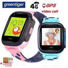 Greentiger y95 crianças relógio inteligente 4g gps wifi rastreamento chamada de vídeo à prova dwaterproof água sos voz chat crianças smartwatch menino menina vs a36e