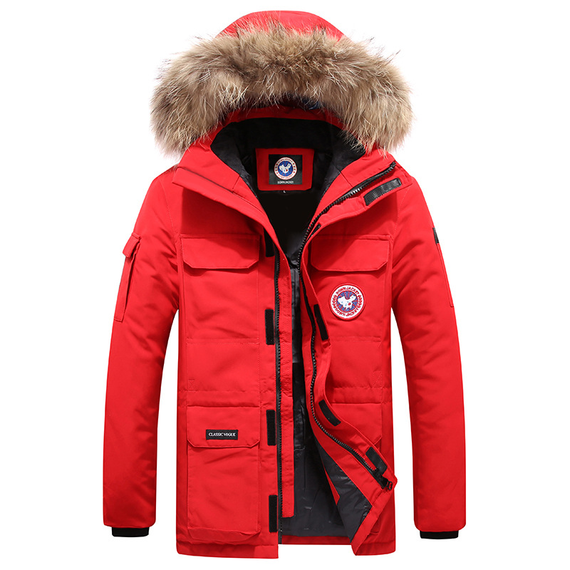 Coat MEN'S Cotton-padded Clothes Men Autumn & Winter New Style Down Jacket Cotton-padded Clothes Trend Men'S Wear Goose Fashion