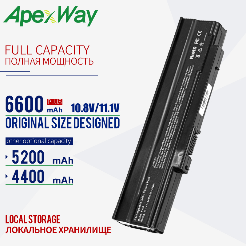 Apexway 4400mAh Laptop Battery AS09C31 AS09C71 <font><b>AS09C75</b></font> For Acer Extensa 5235 5635 5635ZG ZR6 5635Z for GateWay NV48 NV42 NV44 image