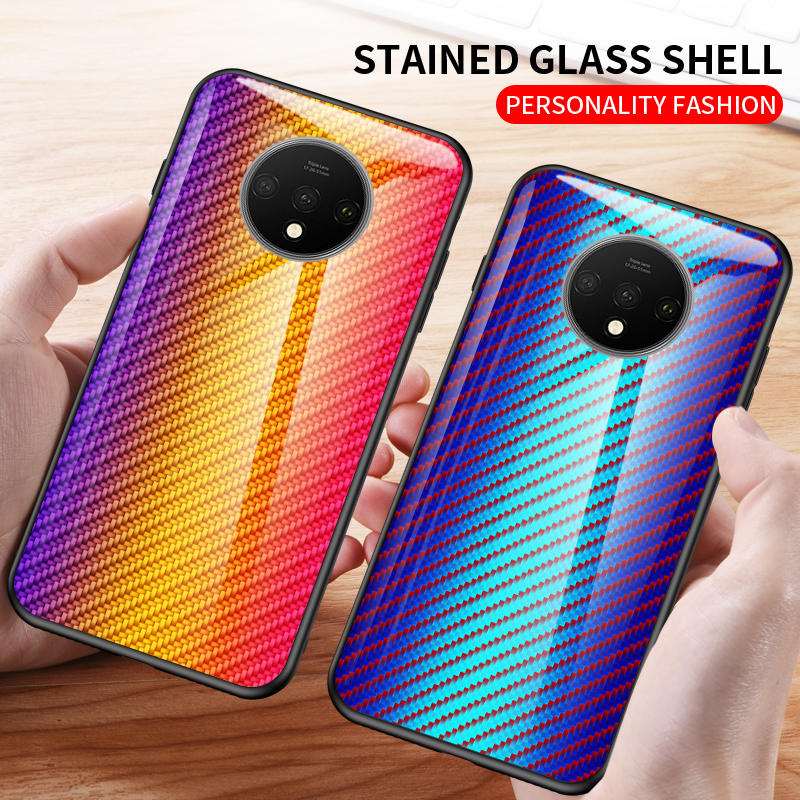 For <font><b>Nokia</b></font> 9 PureView 4.2 1 3.1 <font><b>7.1</b></font> Plus <font><b>Case</b></font> Tempered glass Fashion Gradient carbon fiber protect cover <font><b>case</b></font> for <font><b>nokia</b></font> X6 X7 X71 image