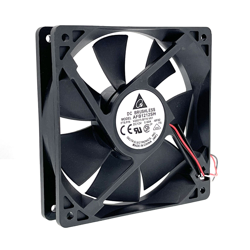New for AFB1212SH 12CM 120MM 12025 DC 12V 0.80A Cooling Fan 2-p Ball Bearing 3400 rpm 113CFM ,High Speed CFM