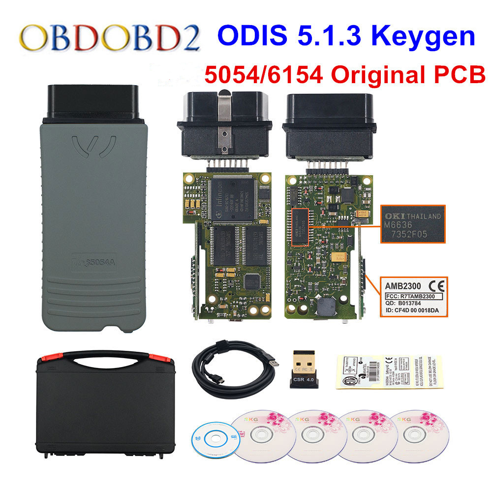 Original 5054 OKI Keygen 5054A Bluetooth AMB2300 ODIS V5.1.3 V/AUDI/SKODA/asiento 5054A 6154 WIFI UDS para VAG
