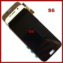 Super amoled lcd para samsung para galaxy s6 g920a g920f SM-G920F g9200 g920 display lcd + digitador da tela de toque assembléia completa(China)
