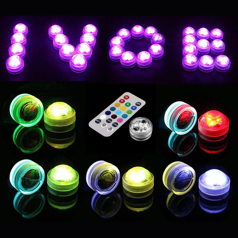1PC RGB 13 Colors LED Light For Shisha Hookah Narguile Bar Decoration Accessories Festive Party Decoration With Remote Control