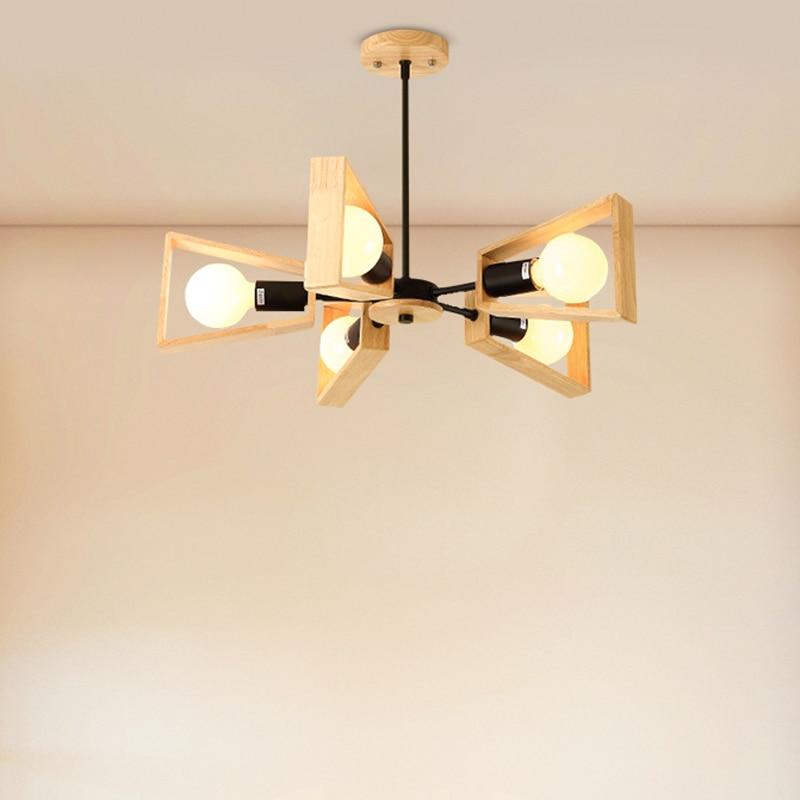 Nordic chandelier modern minimalist bedroom Nordic style personality restaurant creative study living room room lamp