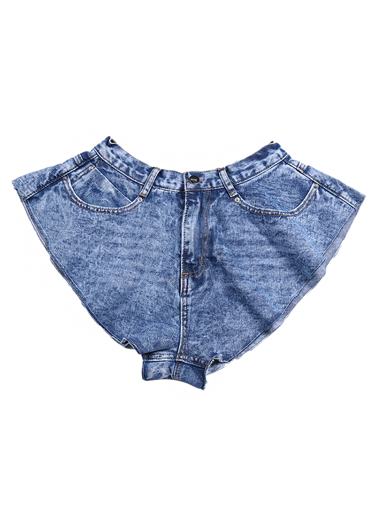 Skirts Clothing Short-Pants TWOTWINSTYLE Ruched Ruffle Female High-Waist Fashion Casual
