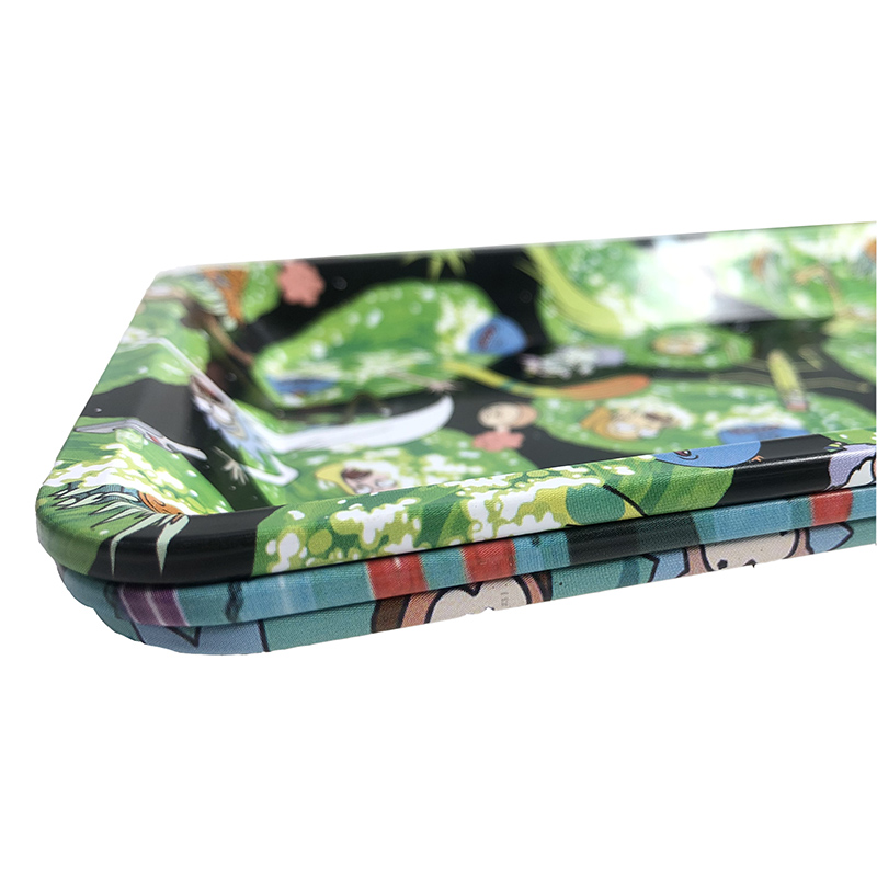 18x12.5cm Rolling Tray Leak Proof Magnetic Lid Herbal Tobacco Storage Cover Hand Cigarette Paper Plate Smoking Pipe Accessories 4
