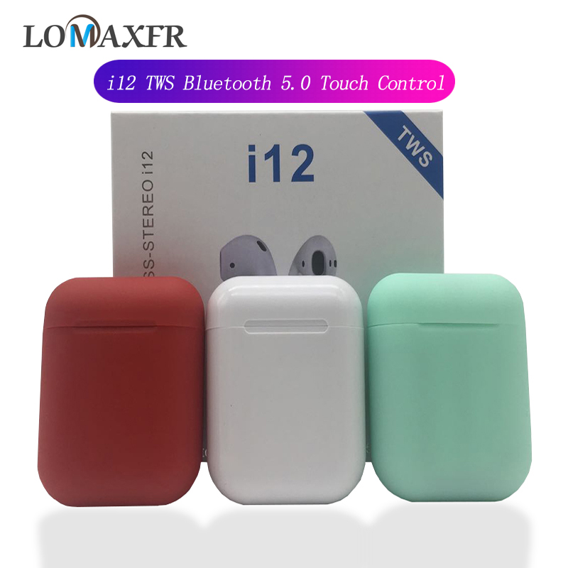<font><b>i12</b></font> <font><b>tws</b></font> <font><b>wireless</b></font> <font><b>headphones</b></font> <font><b>Bluetooth</b></font> <font><b>5.0</b></font> touch control true <font><b>Wireless</b></font> earbuds headset Gaming <font><b>earphone</b></font> with mic for iphone PK i10 image