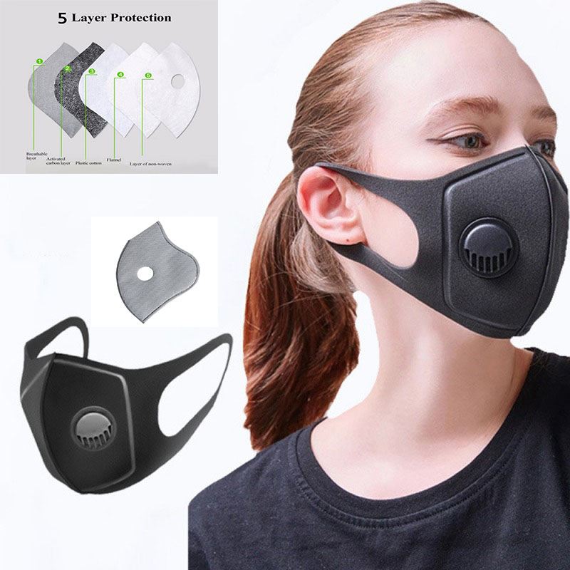 Pollution Mask Military Grade Anti Air Dust And Smoke Pollution Mask With Adjustable Straps And A Washable Respirator Masks