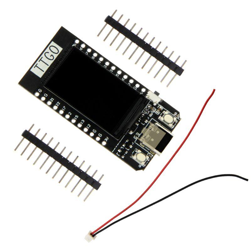 Ttgo t-display esp32 wifi e módulo bluetooth placa de desenvolvimento para ar duino 1.14 posegada lcd