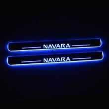 Davanzale della porta a LED per Nissan Navara NP300 2015 2016 2017 2018 porta Scuff Plate via pedale soglia benvenuto luce accessori auto