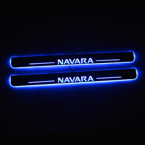 Image 1 - LED Door Sill For Nissan Navara NP300 2015 2016 2017 2018 Door Scuff Plate Pathway Pedal Threshold Welcome Light Car Accessories